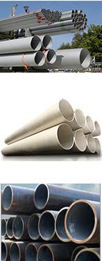 Tuberías de acero en diferentes calibres, materiales y diámetros